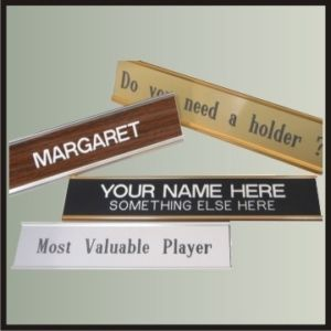 Nameplate in Metal Holder