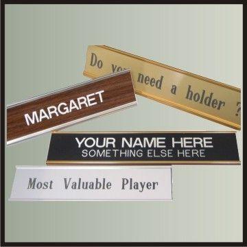 Nameplate in Metal Holder