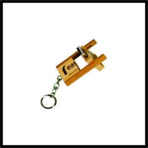 Bamboo Key ring with flash drive