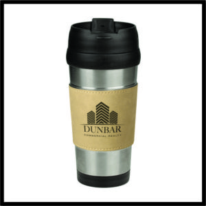Leatherette Travel Mug - 16 oz.
