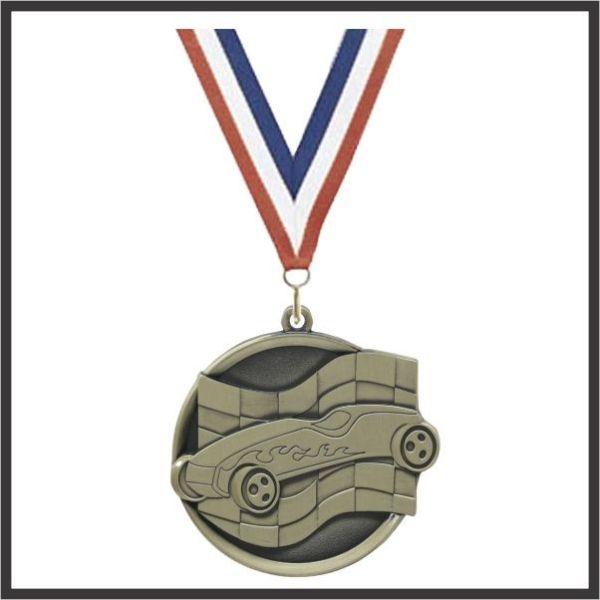 """Pinewood Car Mega Medal - 2-1/4"""""""