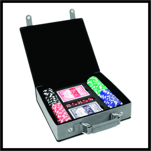 Poker Set in gray
