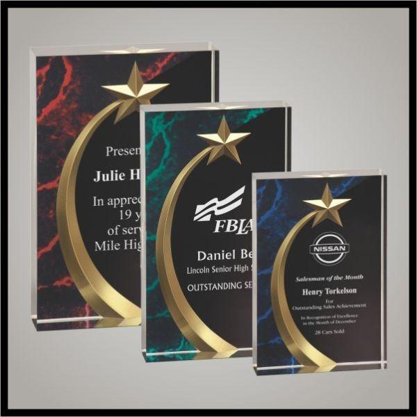 Marbled Shooting Star Acrylic from Custom Awards