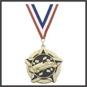 Pinewood Car SuperStar Medal - 2-1/4""