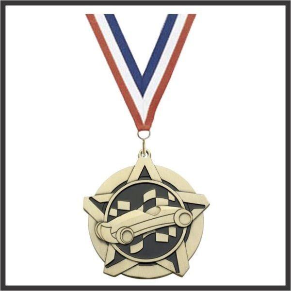"Pinewood Car SuperStar Medal - 2-1/4"""