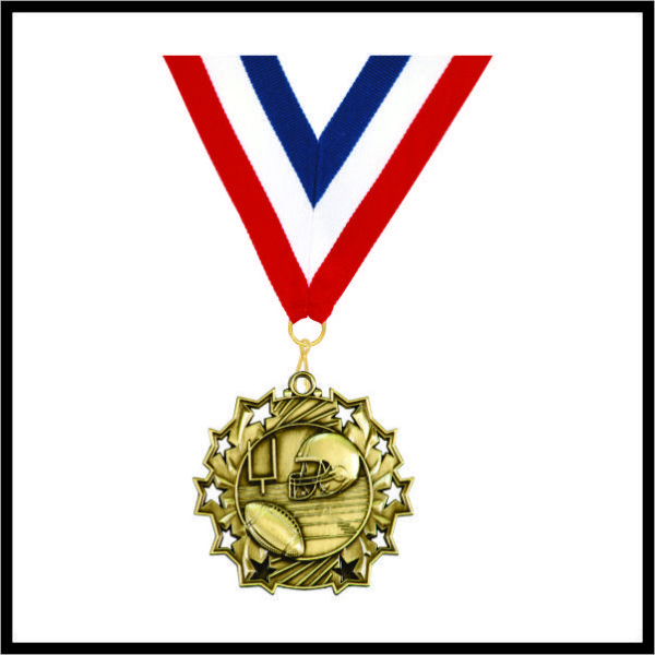 "Football Medal (TS) - 2-1/4"""