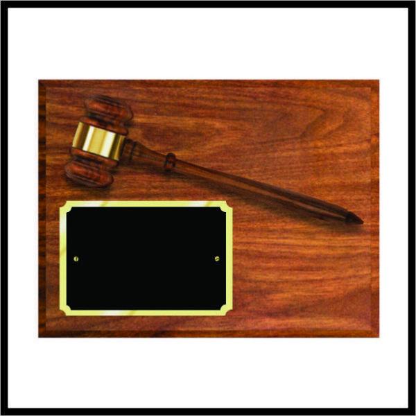 Gavel Plaque - walnut gavel