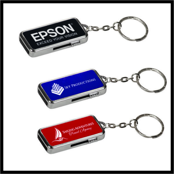 Aluminum Key ring with flash drive