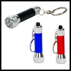 Aluminum Key ring with LED flashlight