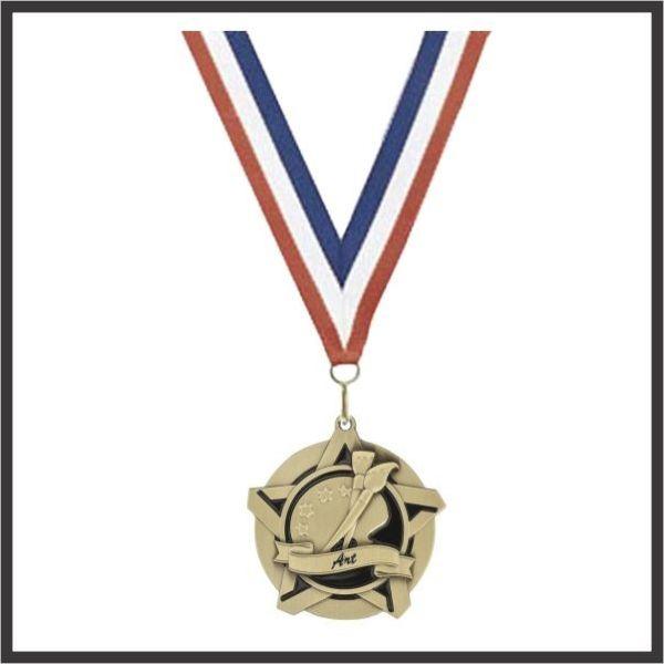 """Art SuperStar Medal - 2-1/4"""""""