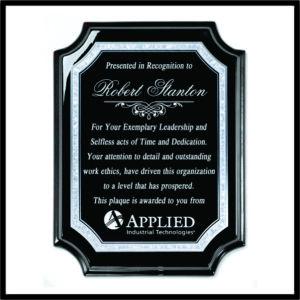 Ebony Award Plaque, profiled corners - 0912