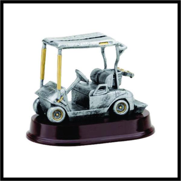 Golf Cart Resin Statue