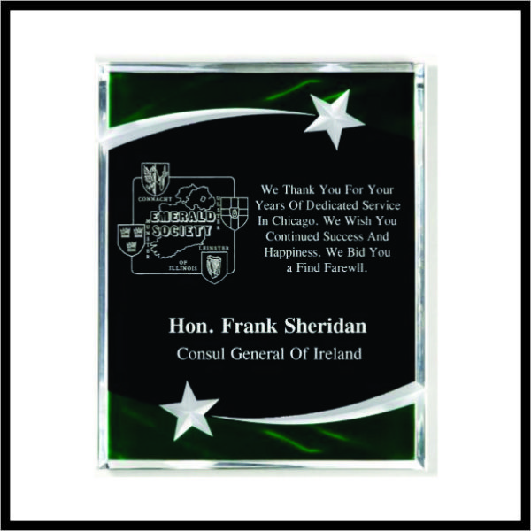 Crystal Star Acrylic Plaque