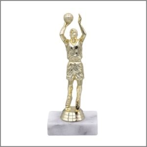 basketball figure on a base trophy with male shooter