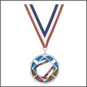 Decagon Colored Medal
