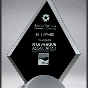 diamond shaped glass award