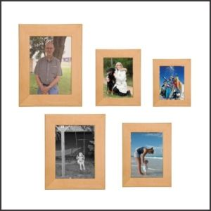 Red Alder Photo Frame with Square corners