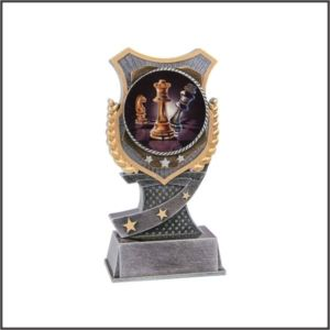 Chess trophy shield resin